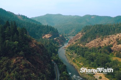 River Highway Aerial Nature Video Background