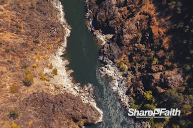 Aerial Canyon River Nature Background Video