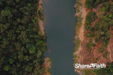 Aerial River Current Nature Background Video