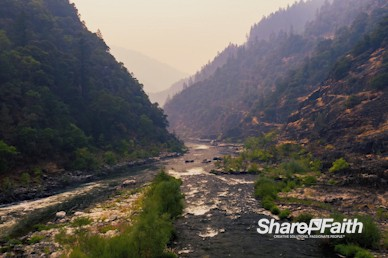 Misty River Nature Background Video