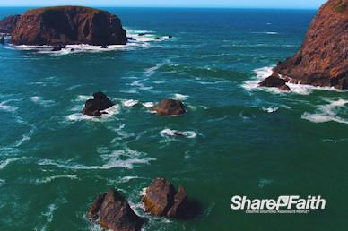 Ocean Tide Nature Background Video
