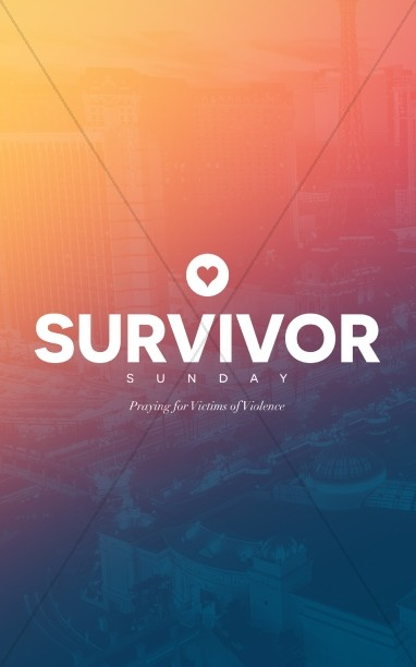 Survivor Sunday Church Bulletin Template