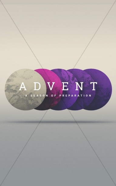Advent Season of Preparation Bulletin Template