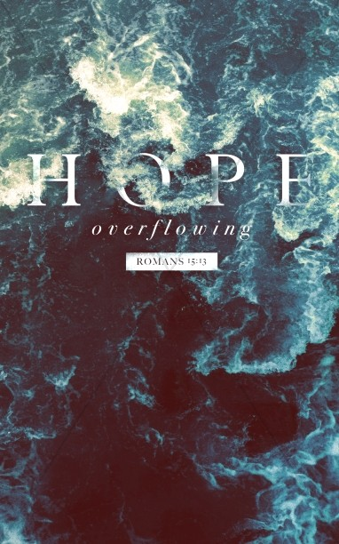 Hope Overflowing Church Bulletin Template