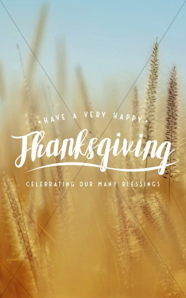 Thanksgiving Harvest Church Bulletin Template