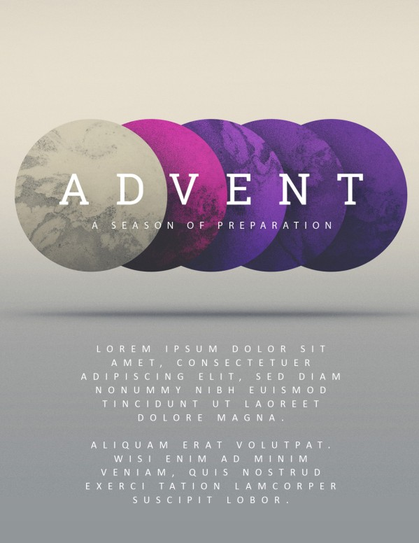 Advent Season of Preparation Flyer Template