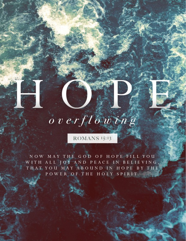 Hope Overflowing Church Flyer Template