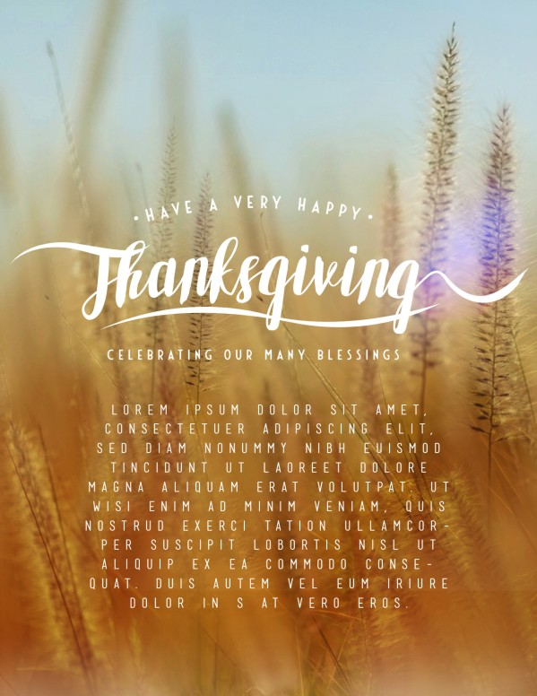 Thanksgiving Harvest Church Flyer Template