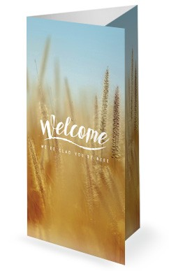 Thanksgiving Harvest Church Tri Fold Bulletin Template