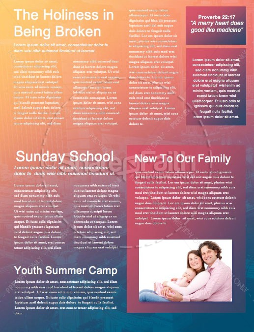Survivor Sunday Church Newsletter Template