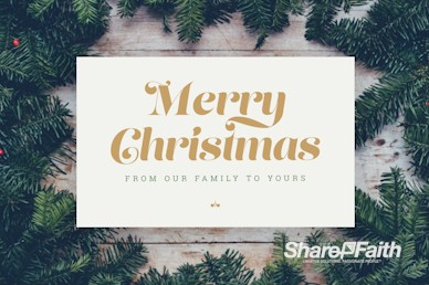 Merry Christmas From Our Family To Yours Motion Graphic