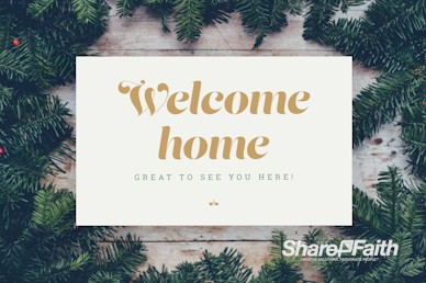 Merry Christmas Welcome Motion Graphic
