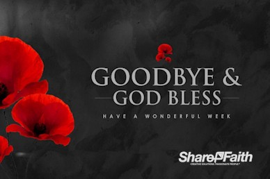 Remembrance Day Goodbye Motion Graphic