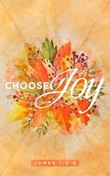 Choose Joy Church Bulletin Cover