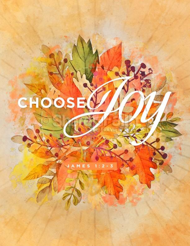 Choose Joy Church Flyer Template