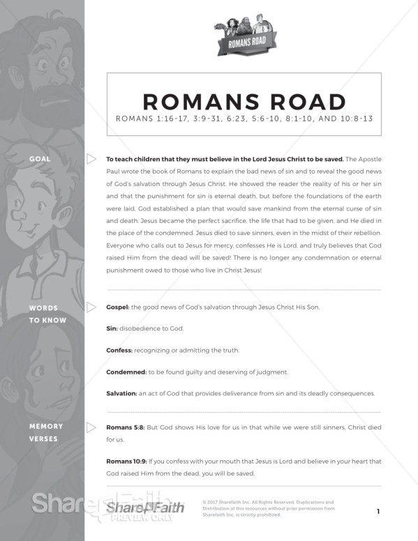 Romans Road Curriculum