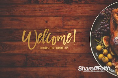 Prayer for Thanksgiving Welcome Motion Graphic