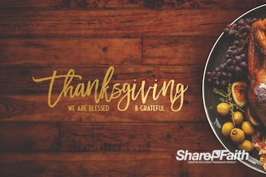 Prayer for Thanksgiving Motion Graphic