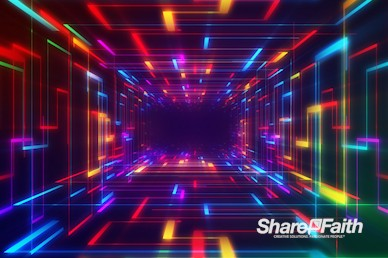 Neon Laser Tunnel Worship Video