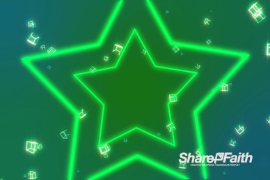 Neon Stars Motion Background