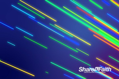 Neon Laser Streaks Worship Video