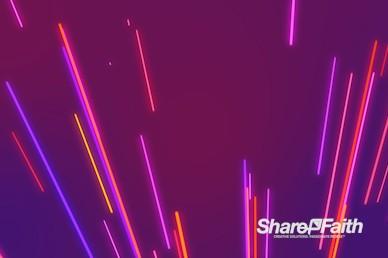 Neon Light Burst Worship Video