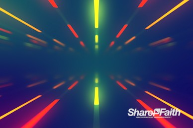 Neon Light Tunnel Worship Video