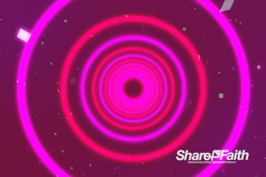 Neon Light Circles Motion Background