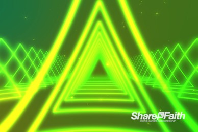 Neon Light Triangle Worship Video