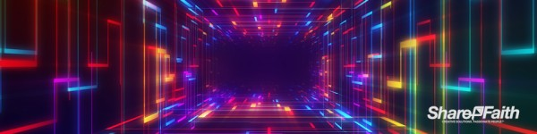 Neon Laser Tunnel Multi Screen Video