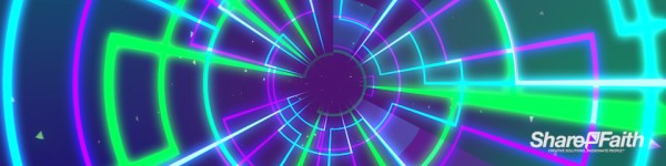 Neon Cyber Tunnel Multi Screen Video