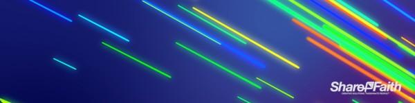 Neon Light Streaks Triple Wide Video