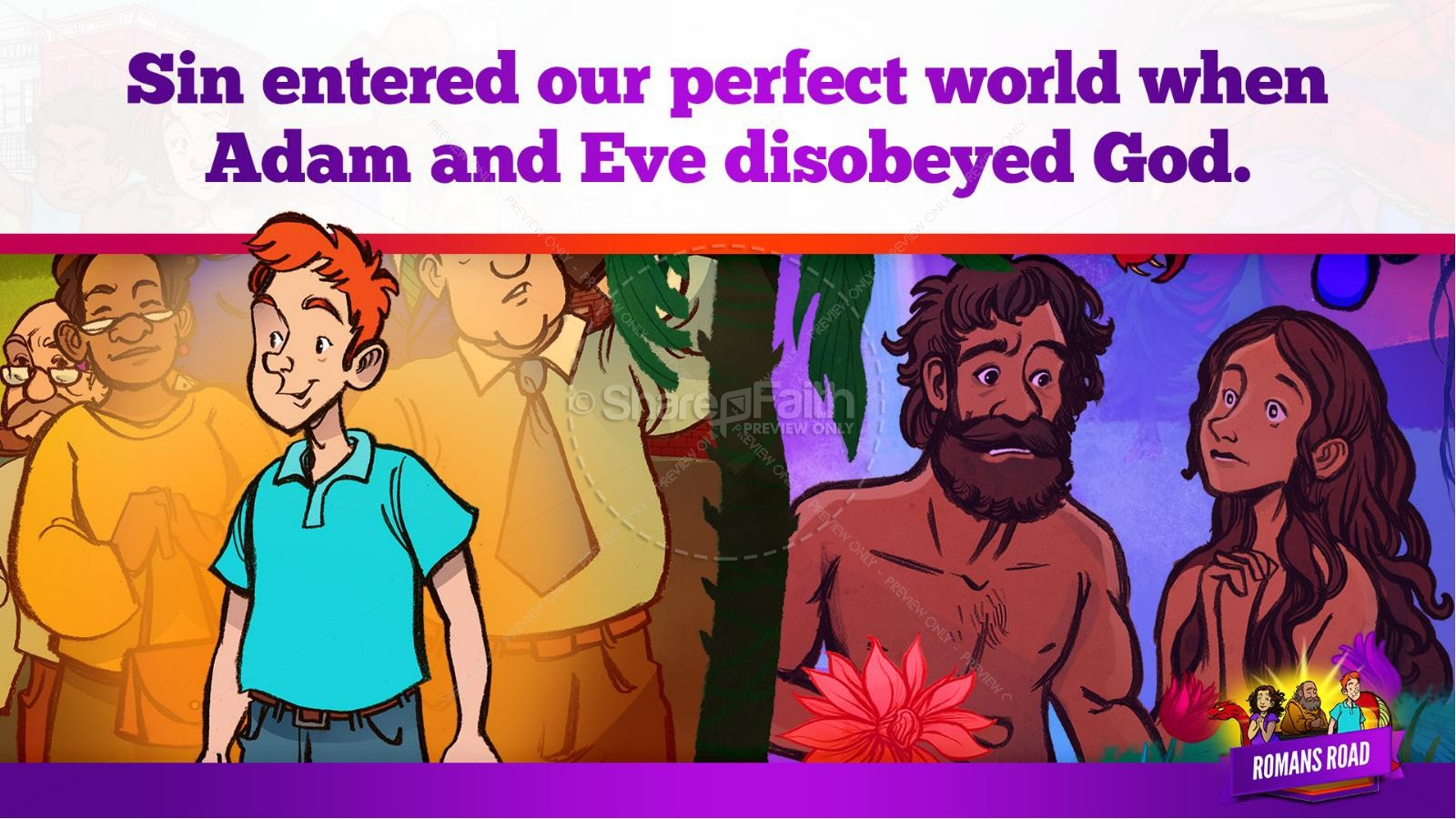 Romans Road Kids Bible Story