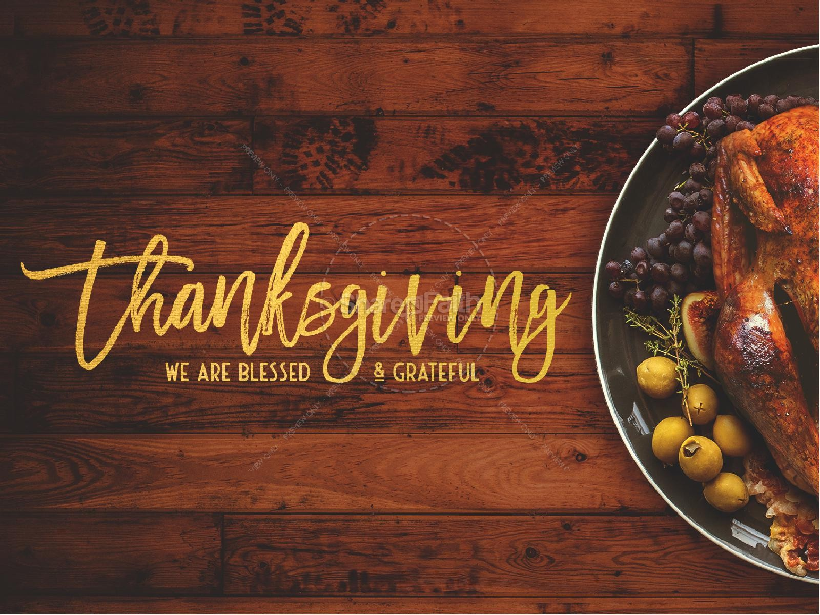 Prayer for Thanksgiving Church PowerPoint