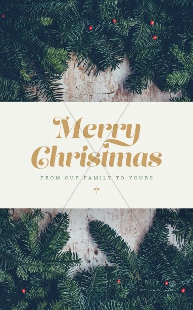 Merry Christmas From Our Family To Yours Bulletin
