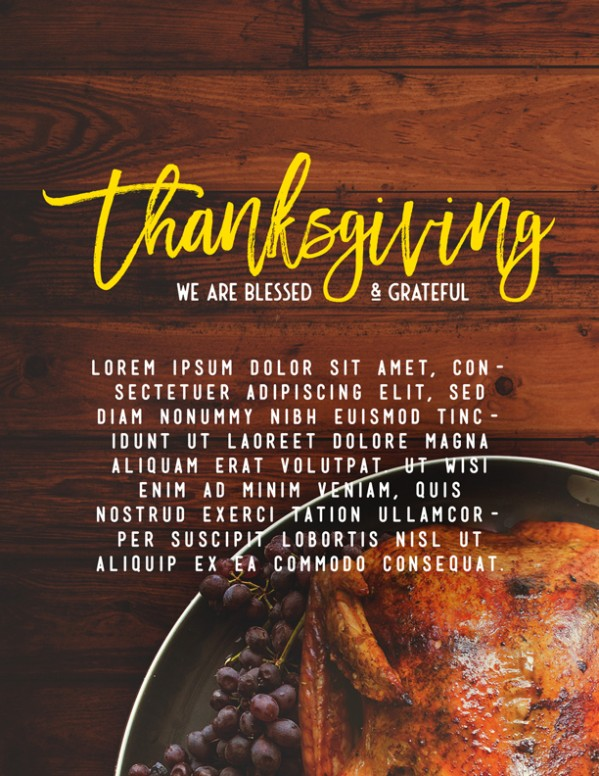 Prayer for Thanksgiving Church Flyer Template