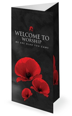 Remembrance Day Church Tri Fold Bulletin Cover