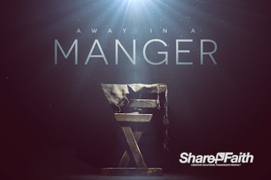 Manger Of Jesus Christmas Motion Graphic