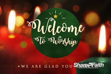Christmas Eve Candlelight Welcome Motion Graphic