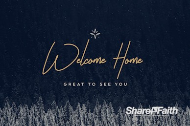 Winter Christmas Welcome Video Loop