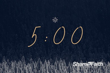 Winter Christmas Worship Countdown