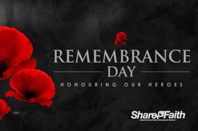 Remembrance Day Church Motion Graphic