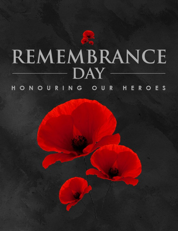 Remembrance Day Church Flyer Template
