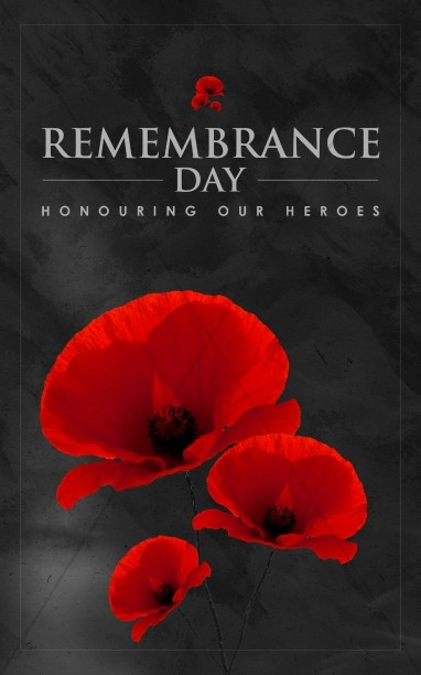Remembrance Day Church Bulletin Template