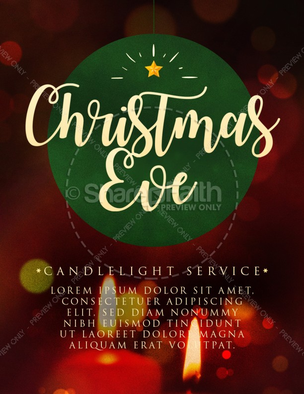 Christmas Eve Candlelight Service Flyer