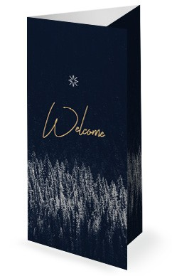 Winter Christmas Trifold Bulletin Template