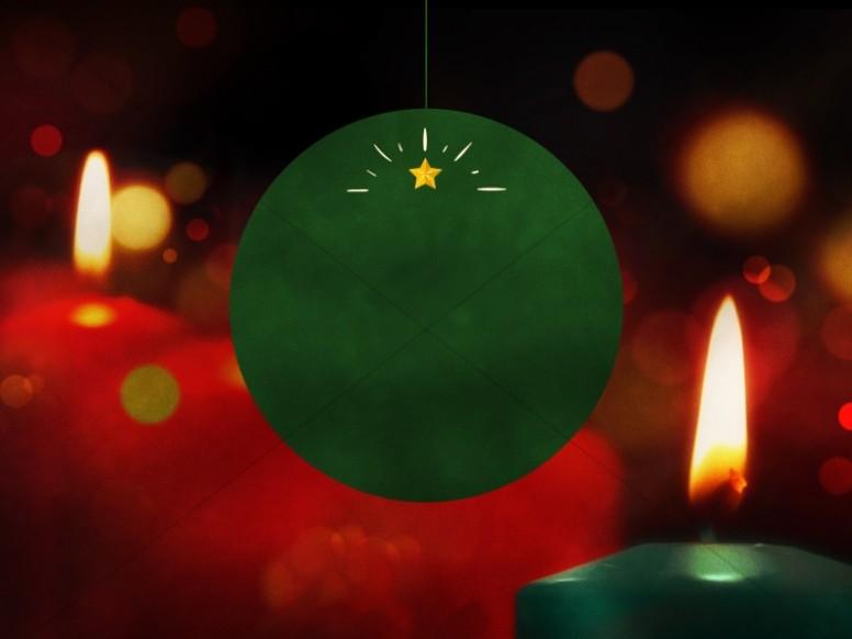 Christmas Eve Candlelight Service Worship Background