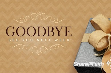 God's Gift Christmas Goodbye Motion Graphic