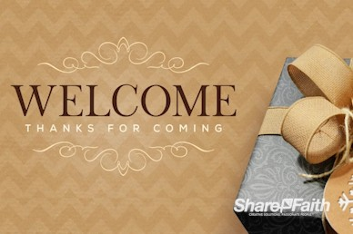 God's Gift Christmas Welcome Motion Graphic