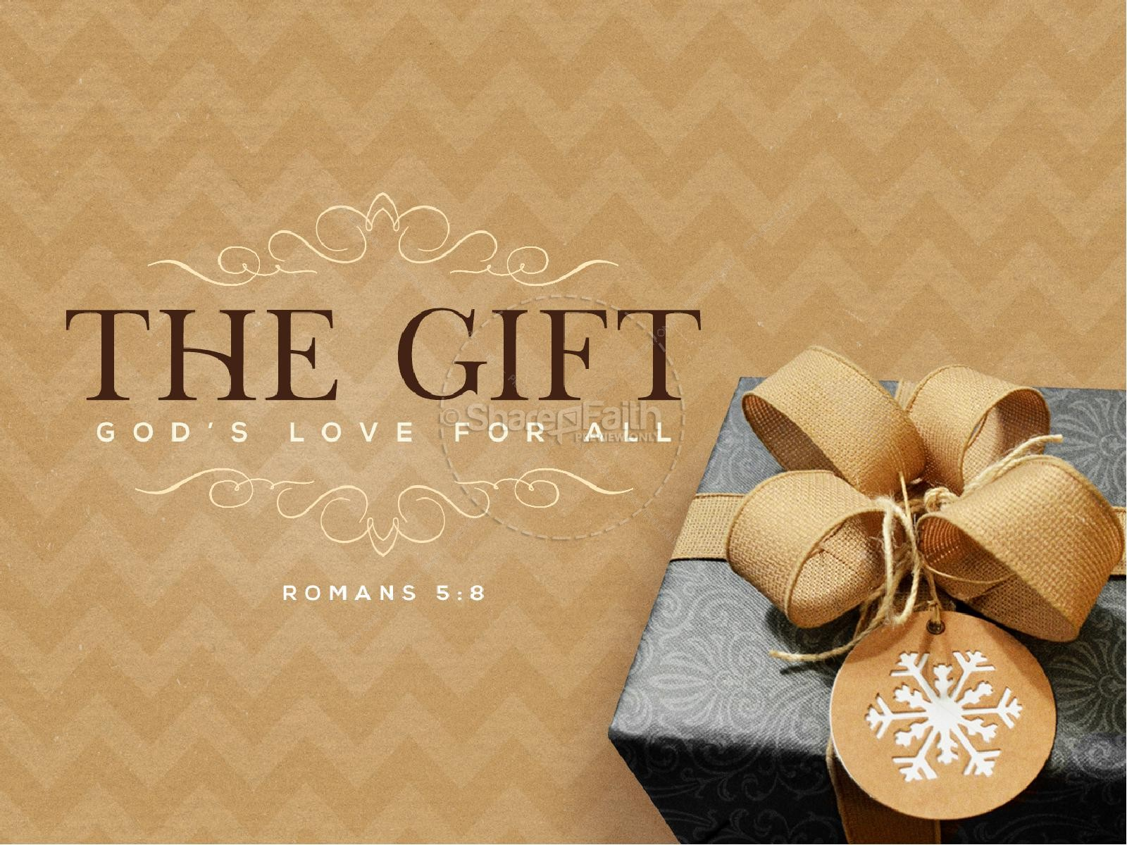 God's Gift Of Love Christmas PowerPoint